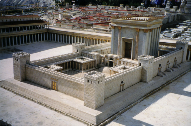 Imagined Jerusalem Temple © Juan R. Cuadra/WikiCommons