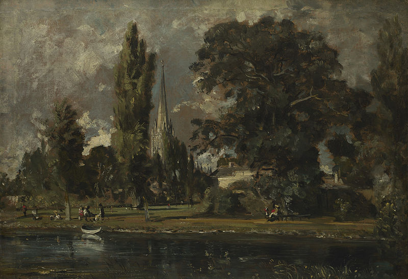 Salisbury Cathedral and Leadenhall seen from the River Avon | © Wiki Commons