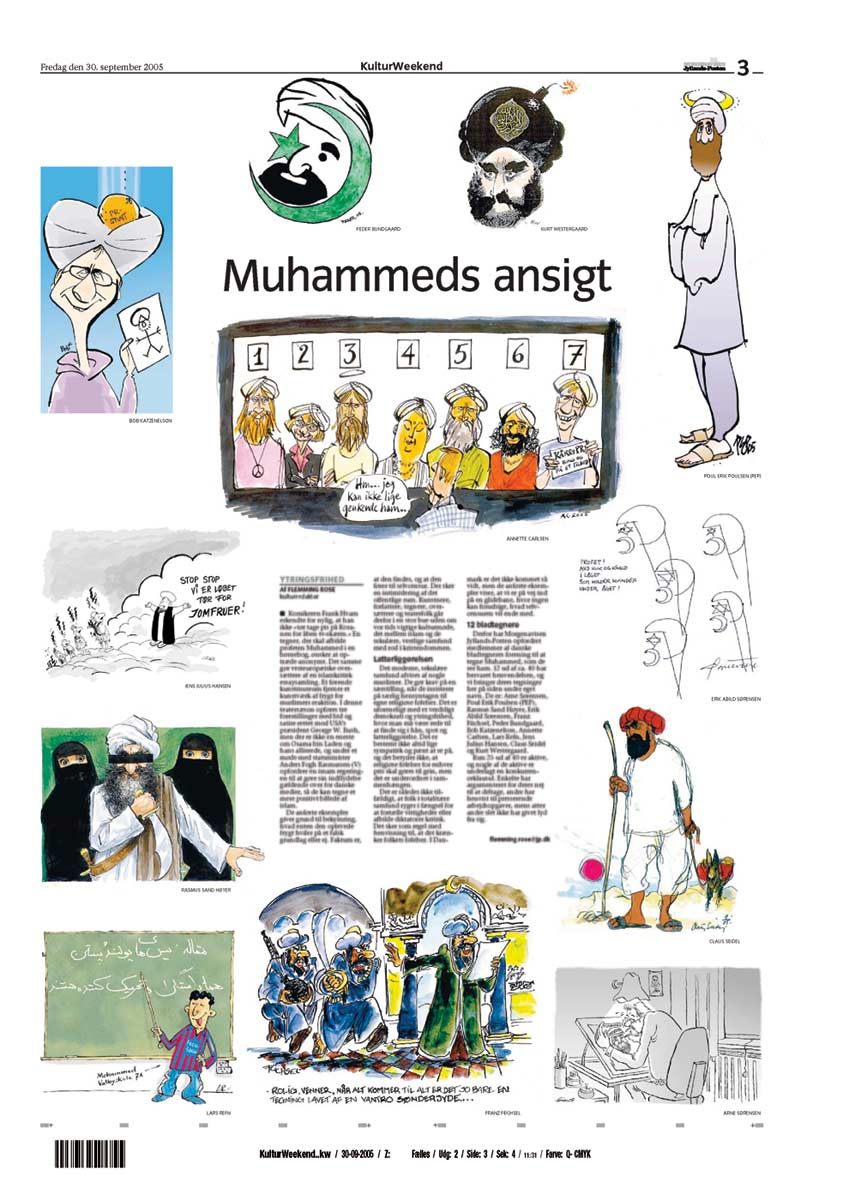 the controversy related to the cartoon depictions of the prophet muhammad in the french publication  Dubai: depictions of prophet muhammad (peace be upon him) such as the cartoons published by the french satirical magazine reeling from a deadly attack are banned in islam and mocking him angers many muslims.