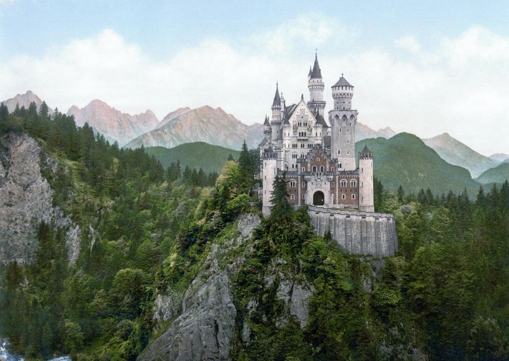 Neuschwanstein Castle in Bavaria via Wikicommons
