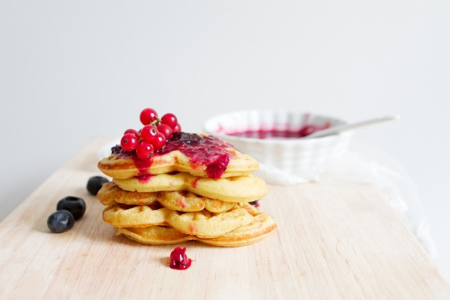 Waffles With Toppings via Pixabay