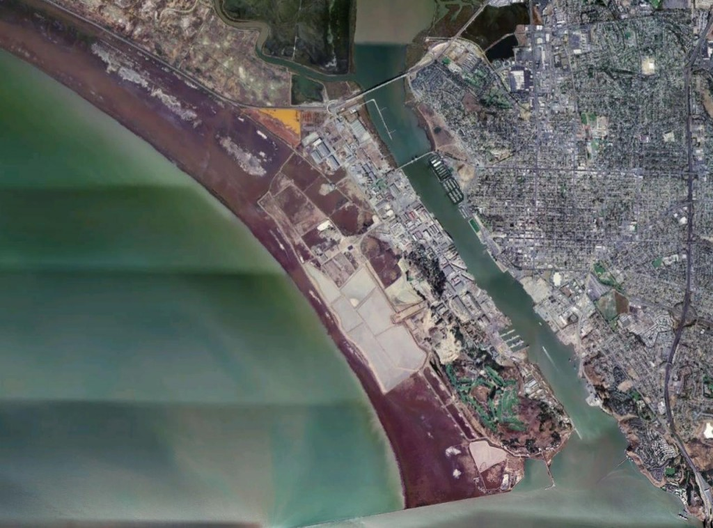 Aerial view of Southern Mare Island @ NASA/Wikipedia