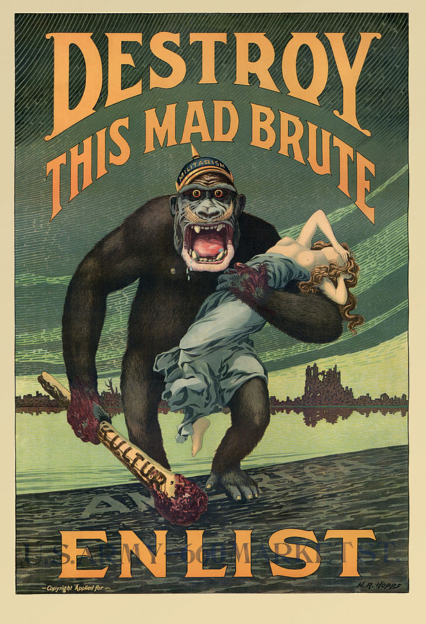 """Destroy this Mad Brute"" @ Harry R. Hopps/Wikipedia"