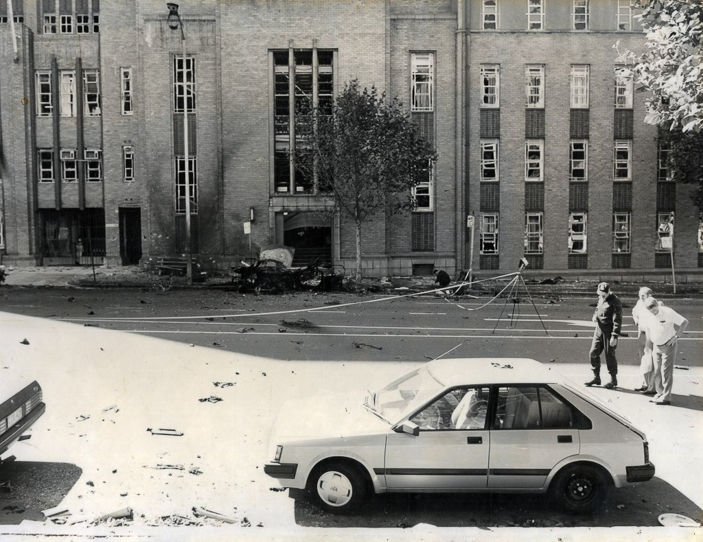 Russell Street Bombing aftermath | Image courtesy of Melbourne Gaol