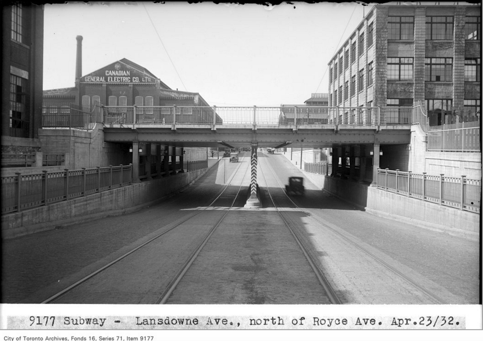 Subway - Lansdowne Ave, north of Royce Ave | Public Domain/City of Toronto Archives