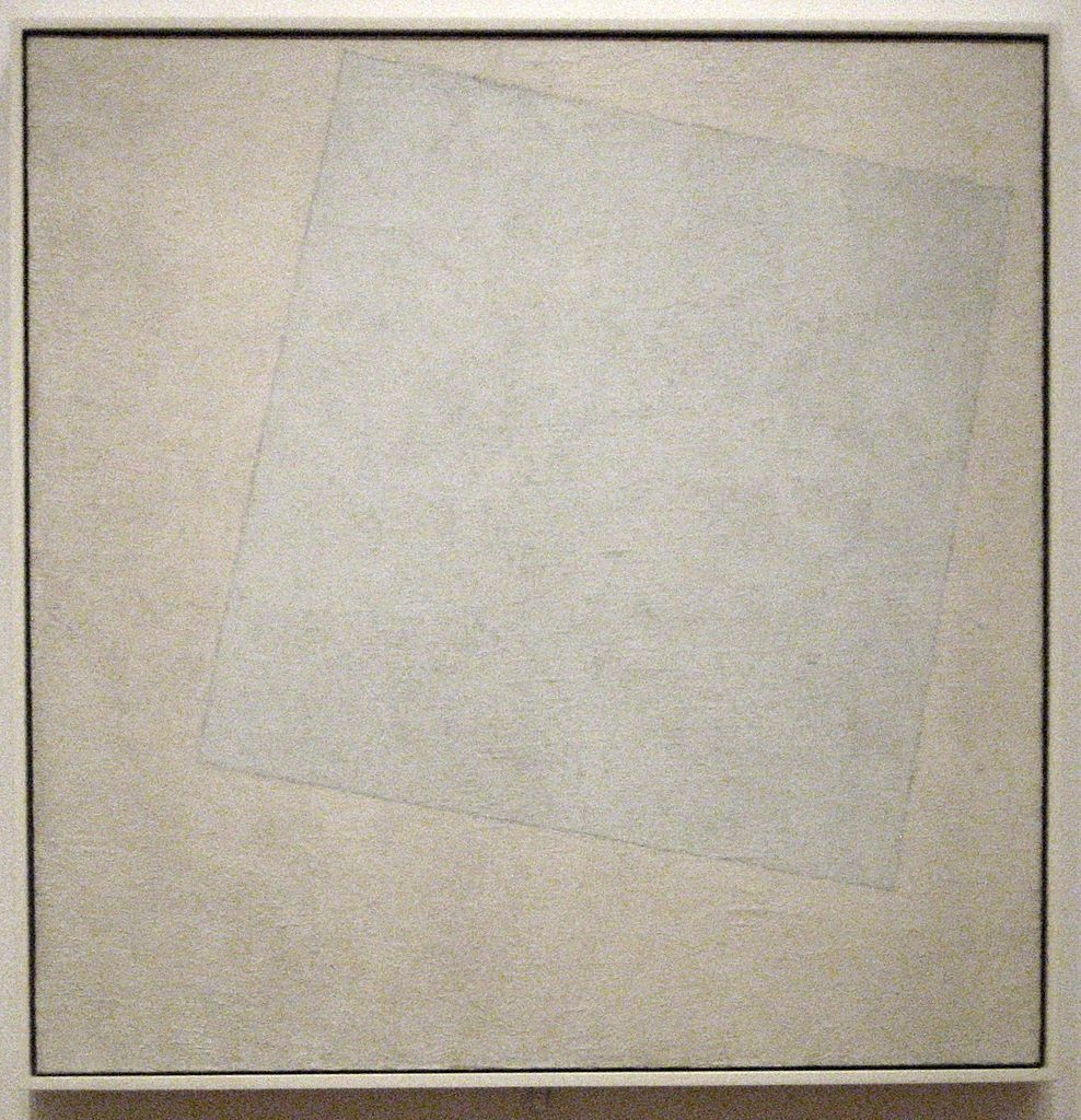 Kazimir Malevich, Suprematist Composition: White on White, 79.4 x 79.4 cm, Museum of Modern Art, 1918   © Wmpearl/WikiCommons
