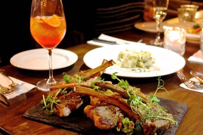 Lamb Chops & Pasta Rosetta   © Mya Marshall