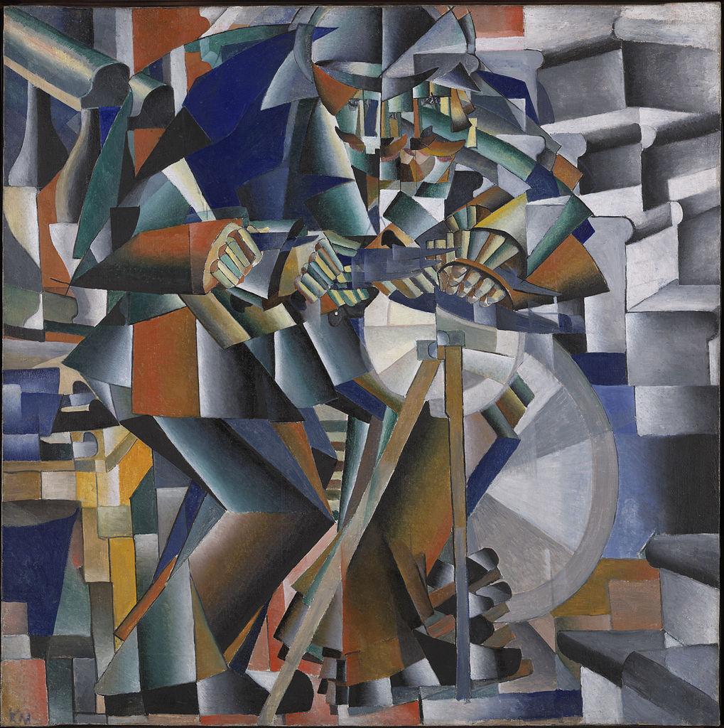 Kazimir Malevich, The Knife Grinder (Principle Glittering), 79.5 x 79.5 cm, Yale University Art Gallery, 1912-13   © Coldcreation/WikiCommons