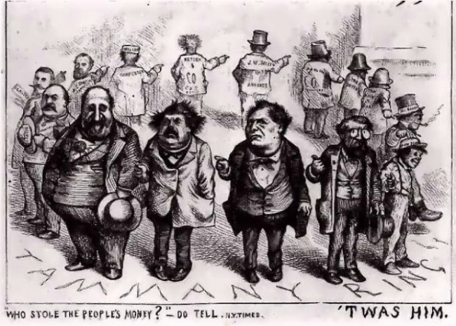 Thomas Nast, Boss Tweed and the Tammany Ring, 1870s | © SreeBot/WikiCommons