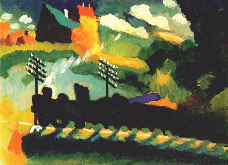Murnau, train & castle   Wassily Kandinsky