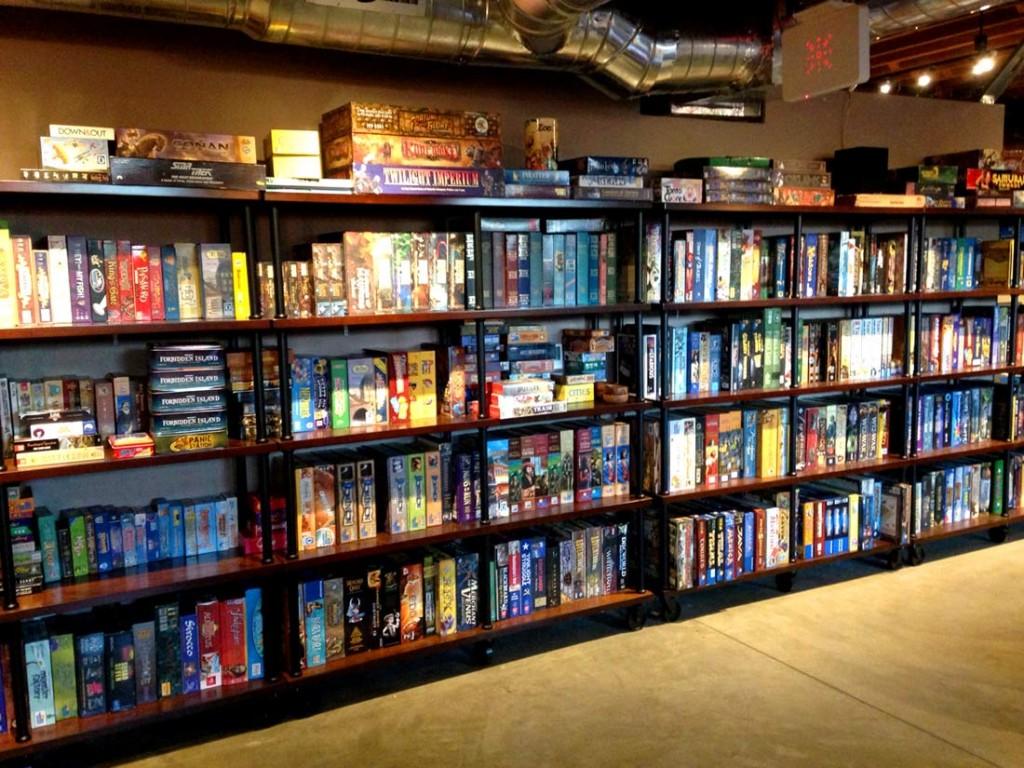 Shelfs of Games ©GameHäus Café