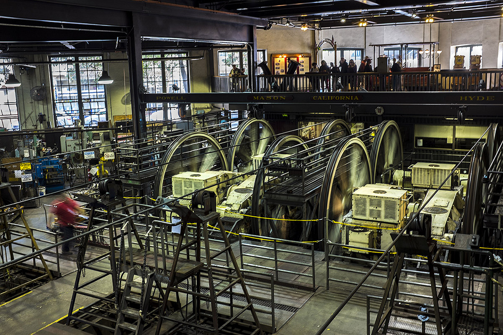 Cables running through the bottom of the Cable Car Museum © Sonny Abesamis/flickr