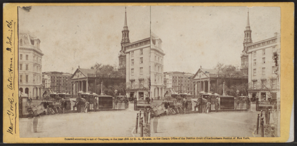 Astor House, New York, from Robert N. Dennis collection of stereoscopic views 3 | © Dcoetzee/Wikimedia Commons