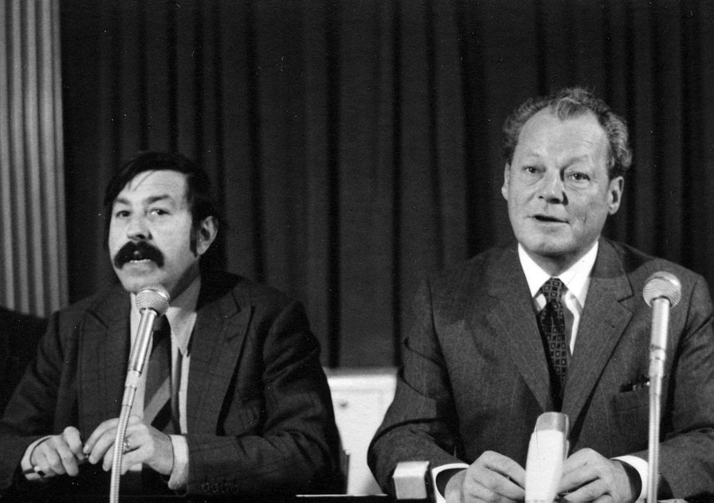 Günter Grass with the West German Chancellor Willy Brandt, 1972/Wiki Commons