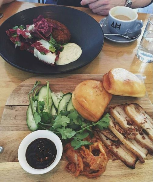 Pork belly fried bao and house made fish cake / Courtesy of Architects and Heroes