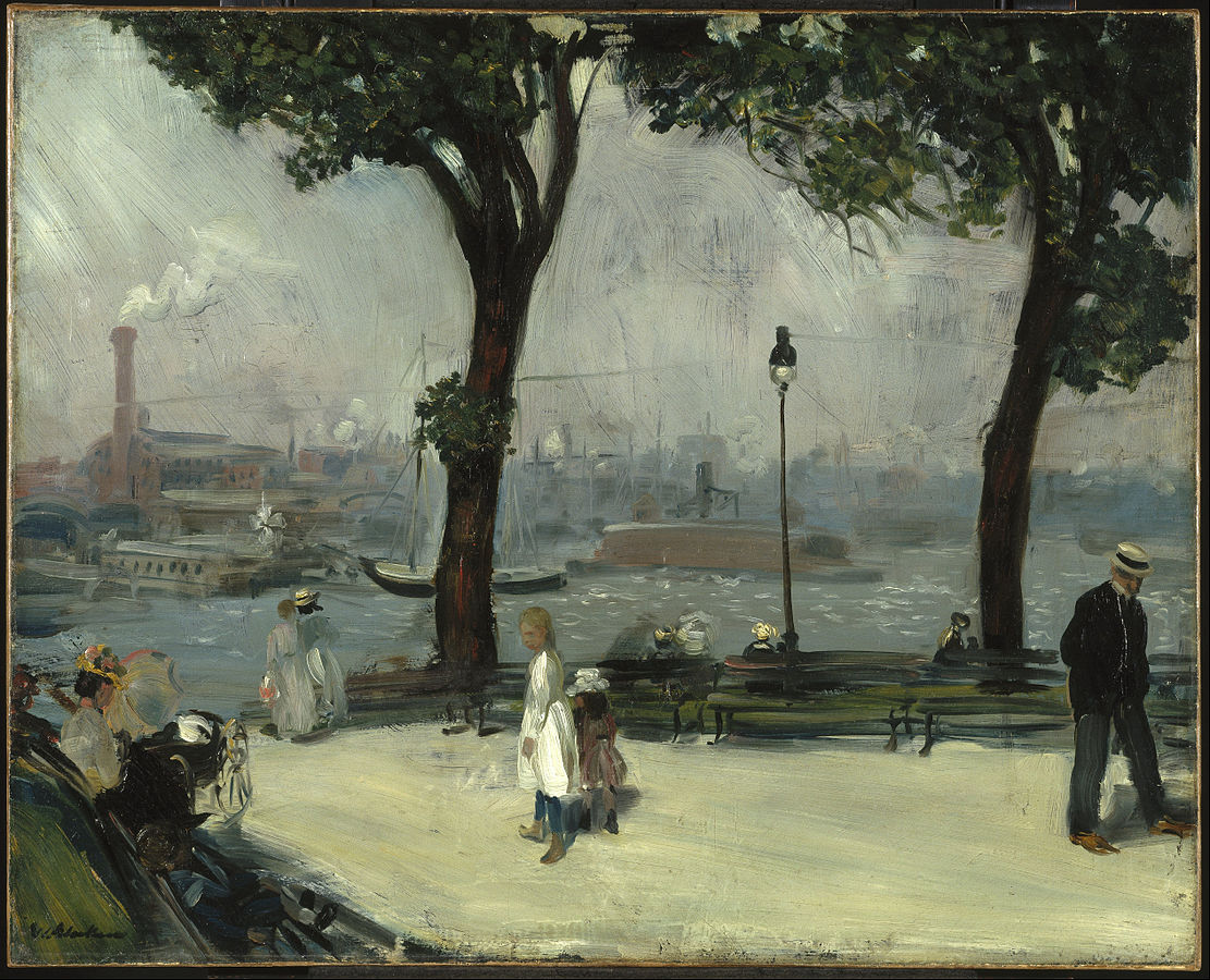 """""""East River Park"""" by William Glackens   ©Public Domain/WikiCommons"""