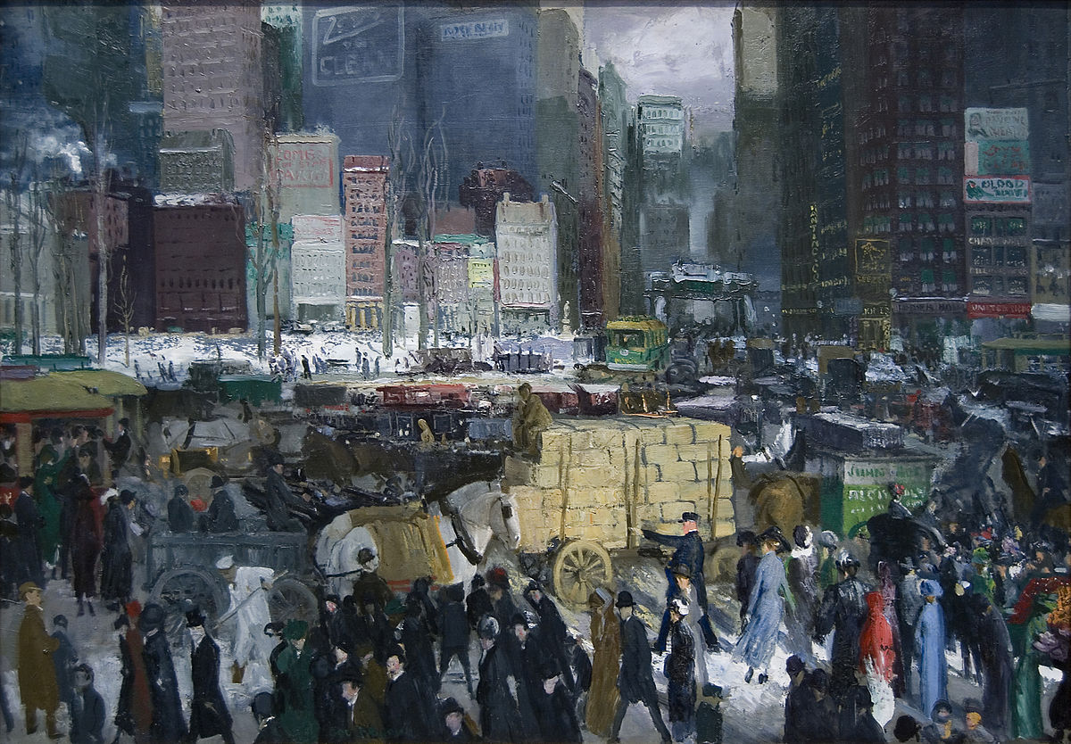 """""""New York"""" by George Bellows   © Public Domain/WikiCommons"""