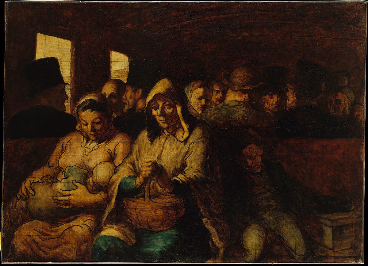 """""""The Third Class Carriage"""" by Honoré Daumier 