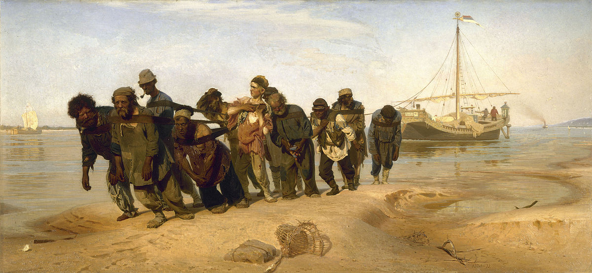 """Barge Haulers on the Volga"" by Ilya Repin | ©Public Domain/WikiCommons"