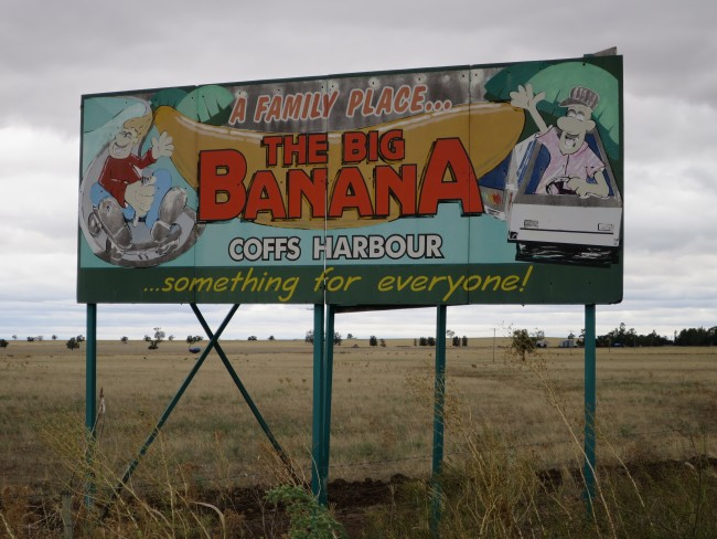 'Big Banana' Billboard, Rural New South Wales © Lu Barnham