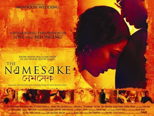 The Namesake movie poster based on Jhumpa Lahiri's novel by the same name | Mira Nair