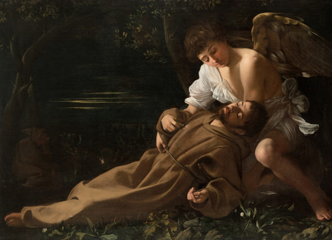 Caravaggio (Michelangelo Merisi), Saint Francis of Assisi in Ecstasy, c. 1595-96, Oil on canvas, Wadsworth Atheneum Museum of Art, The Ella Gallup Sumner and Mary Catlin Sumner Collection Fund, 1943.222