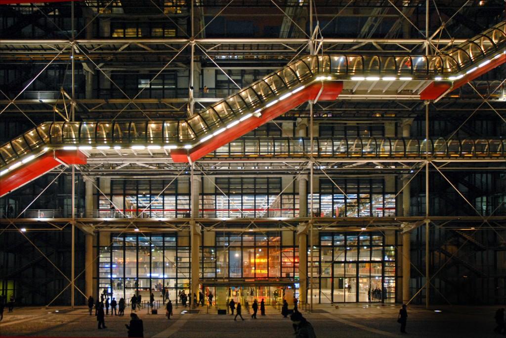 L'entrée du centre Georges Pompidou - © Jean-Pierre Dalbéra/flickr