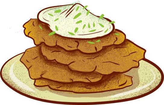 Czech potato pancakes   © Eating Prague Tours