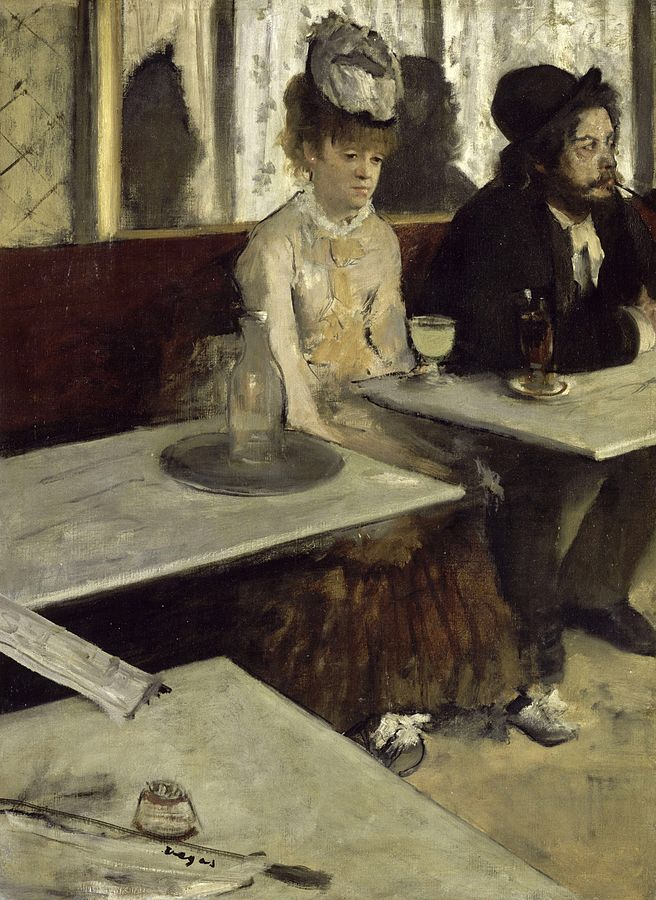 """Absinthe Drinker"" by Edgar Degas 
