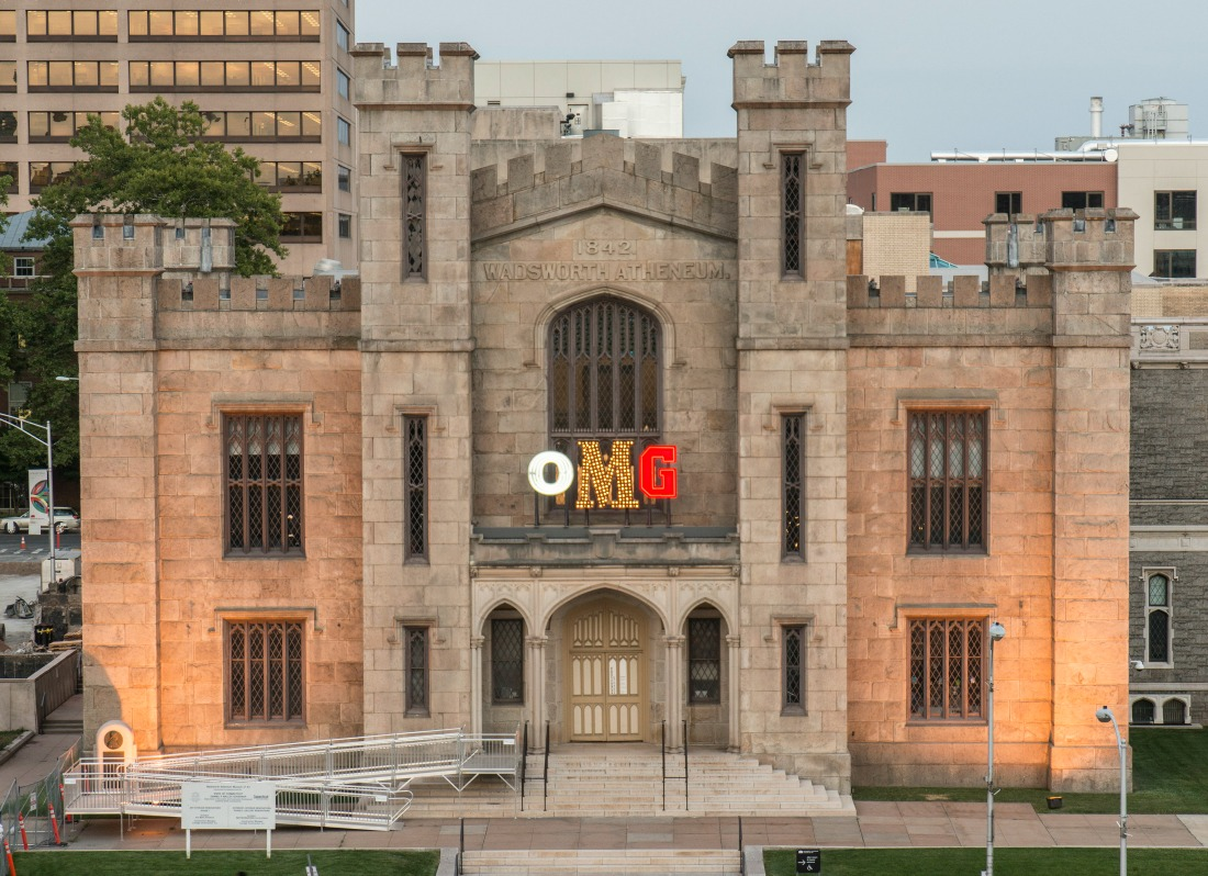OMG By Jack Pierson. Courtesy the Wadsworth Atheneum Museum of Art, photos by Allen Phillips.