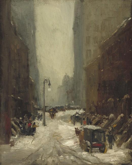"""Snow in New York"" by Robert Henri   © Public Domain/WikiCommons"