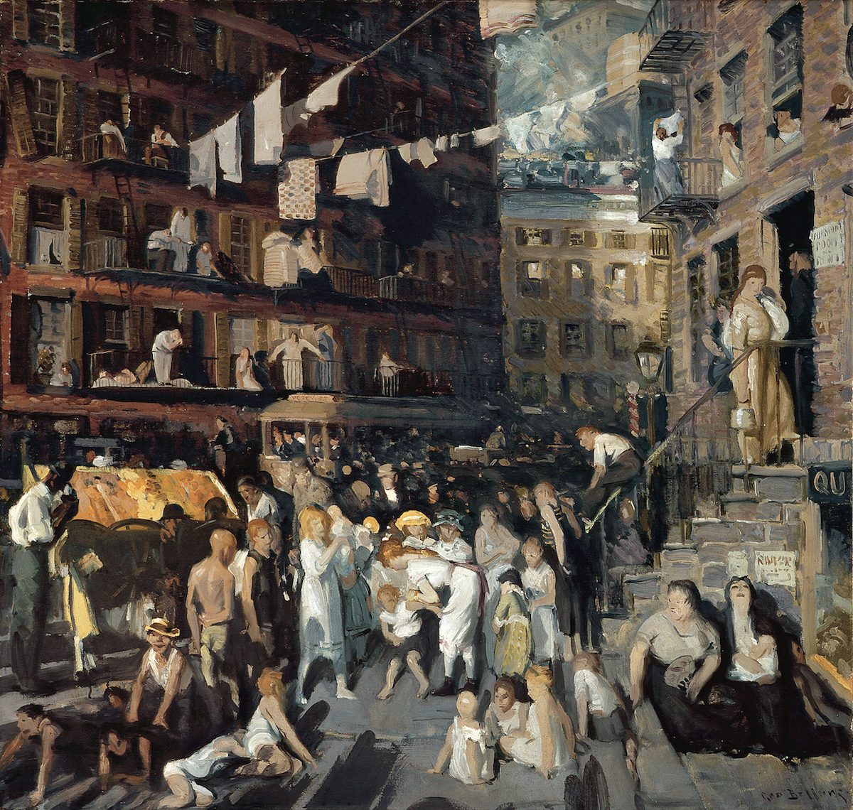 """""""Cliff Dwellers"""" by George Bellows   © Public Domain/WikiCommons"""