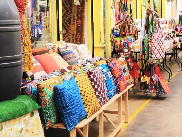 The beautiful colours of some of the shops in Brixton Village and Market Row | © Federica Signoriello
