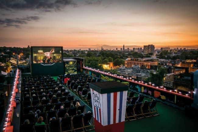 Rooftop Cinema at Bussey-Building | Courtesy of Rooftop Film Club