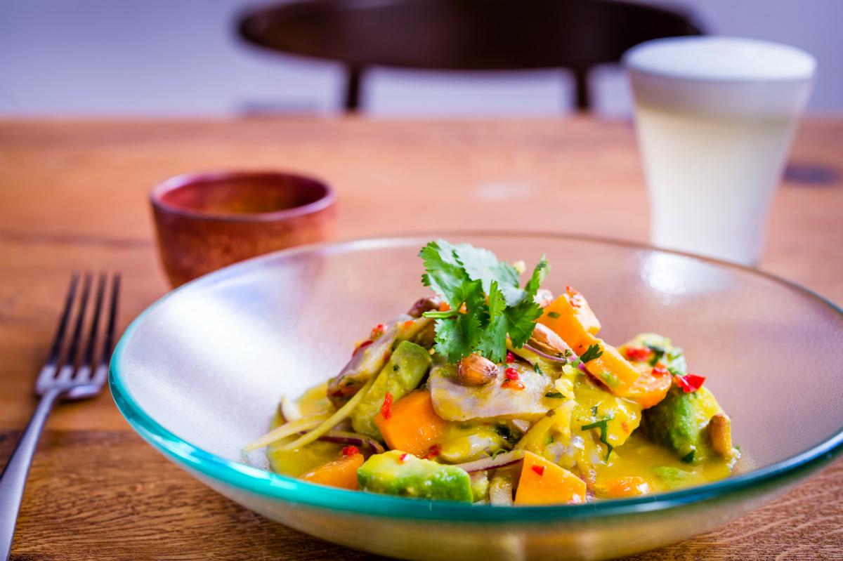 Ceviche Andina & Pisco Sour | Courtesy of Casita Andina