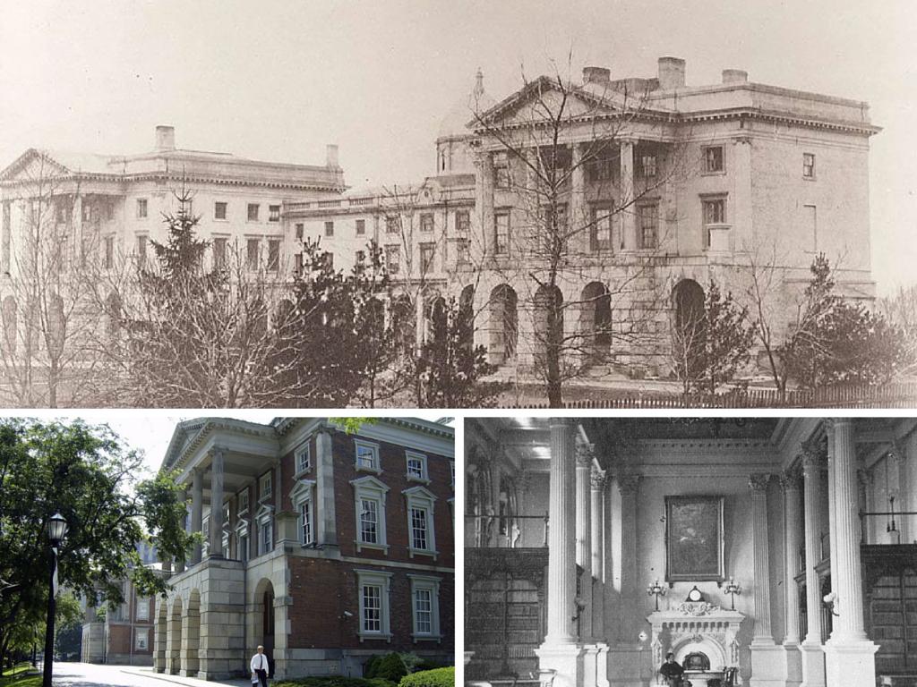 Osgoode Hall in 1856 | Public Domain/Wikicommons | 1OsgoodeHallToronto | © Mikerussell/Wikicommons | The Great Library at Osgoode Hall | Public Domain/Wikicommons