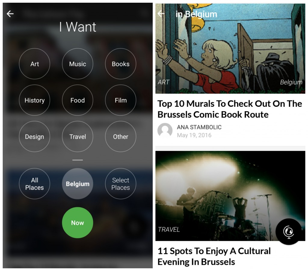 Culture Trip App | Courtesy of Anne Boyle