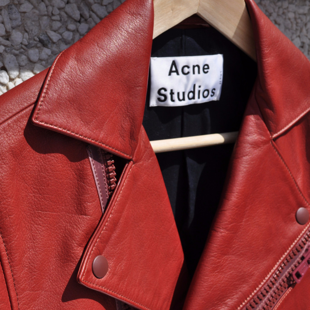 Acne Studios Leather Jacket | Courtesy of Off The Cuff
