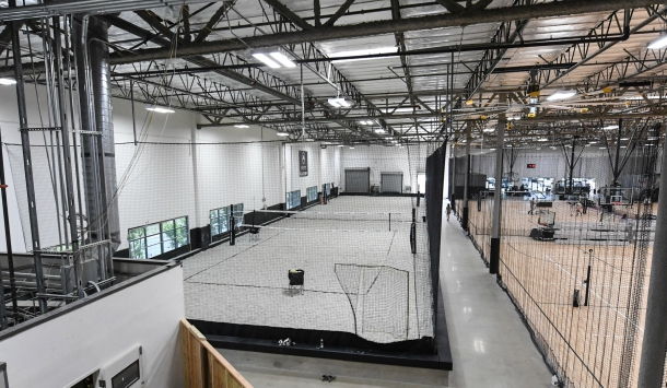 Volleyball and basketball courts (credit: Sports Academy)