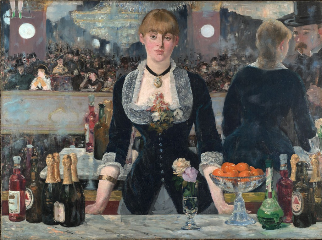 """A Bar at the Folies-Bergère"" by Édouard Manet 