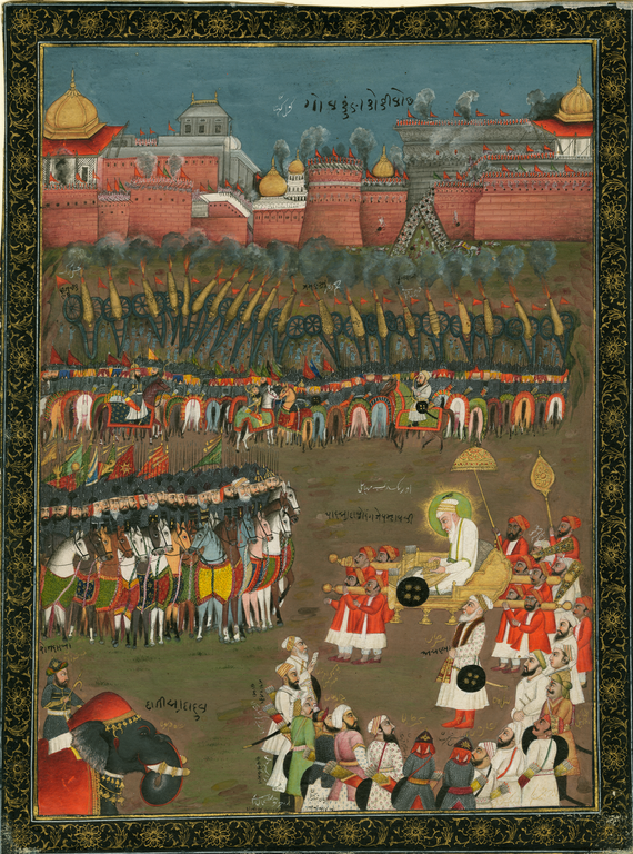 Emperor Aurangzeb at the Seige of Golconda Fort | ©WikiCommons