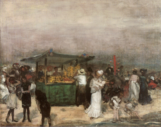 """""""Fruit Stand Coney Island"""" by William James Glackens   ©Public Domain/WikiCommons"""