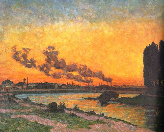 """Sunset at Ivry"" by Armand Guillaumin 