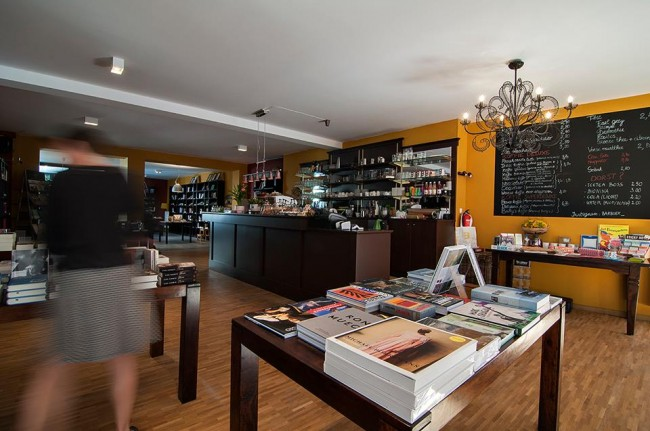 Barbóék's spacious building filled with books and the scent of coffee | Courtesy of Barbóék