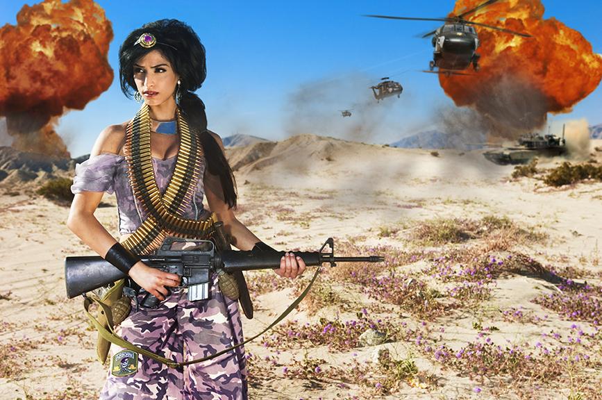 Jasmine from The Fallen Princesses Series| © Dina Goldstein