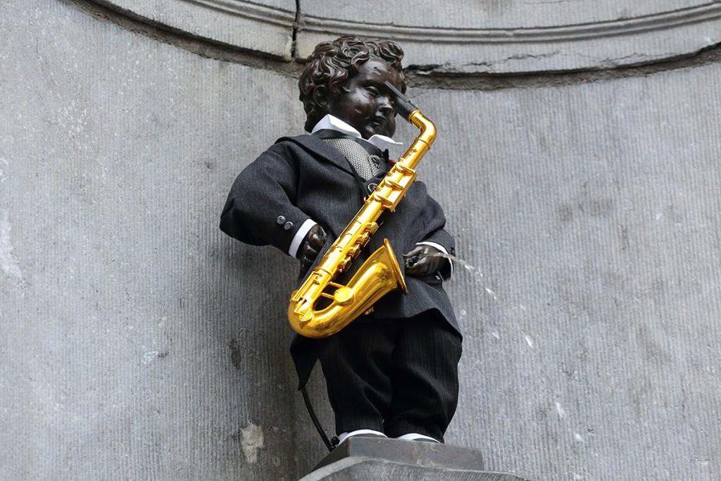 Manneken Pis as Adolphe Sax | WikiCommons