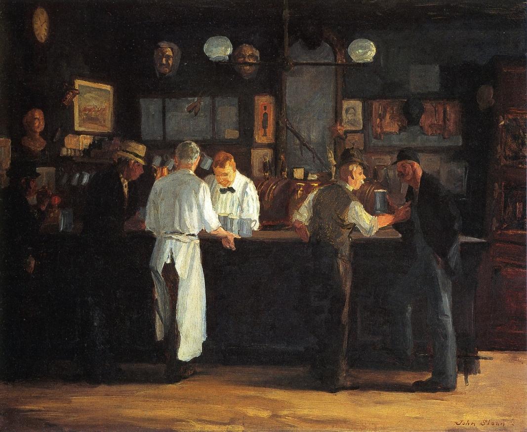 """McSorley's Bar"" by John French Sloan   ©Public Domain/WikiCommons"