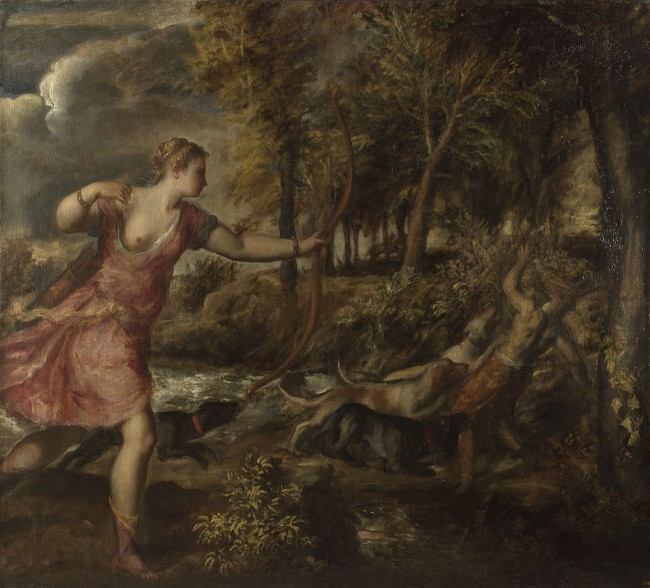 Titian, The Death of Actaeon, about 1559-75 (Oil on canvas 178.8 x 197.8 cm) | Courtesy of the National Gallery, London