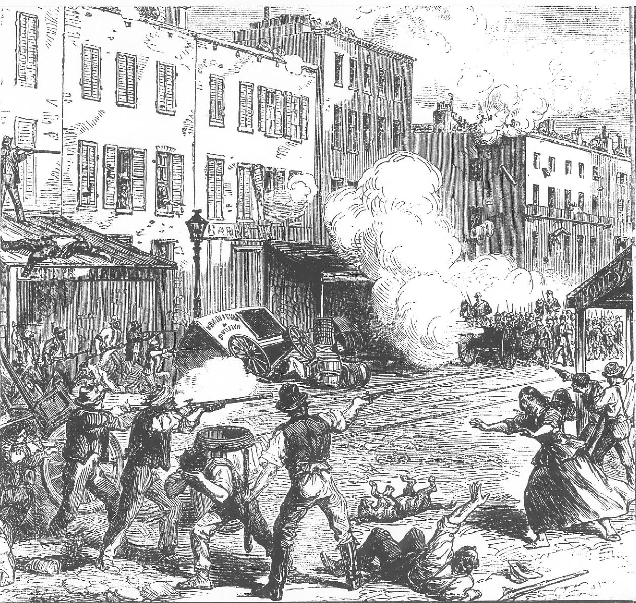 New York Draft Riots - fighting | © Moulder~commonswiki/Wikimedia Commons