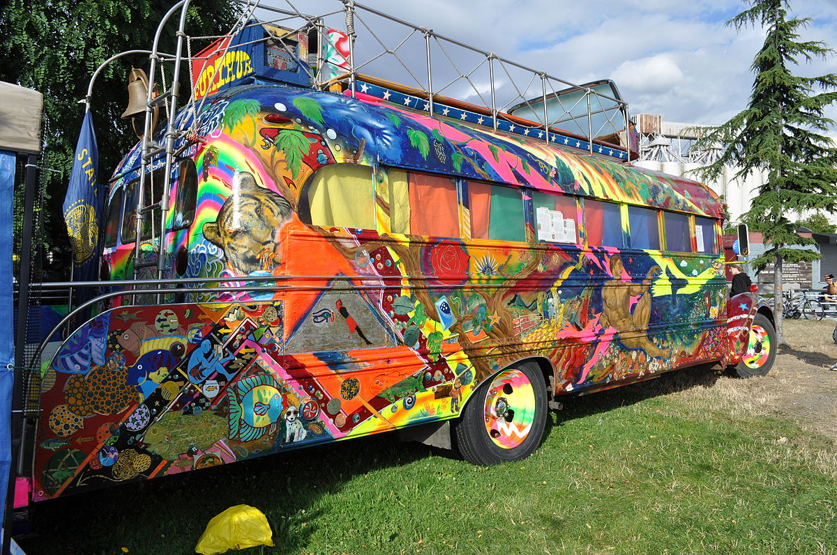 Furthur, Ken Kesey and the Merry Pranksters' second bus @ Joe Mabel/Wikipedia
